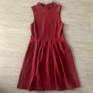 ANTHROPOLOGIE NWOT Red Pinnacle Frill Neck Dress